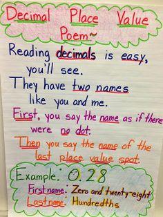 rounding poem.pdf | Math | Pinterest | Poem and Math