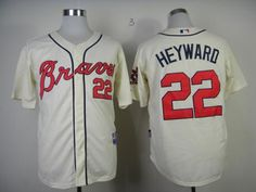 Mitchell and Ness Braves #22 Jason Heyward Embroidered Cream Throwback MLB Jersey pls email us via chinajerseyscustomerservice@gmail.com if any questions