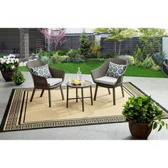 Wicker 3PC Patio Garden Bistro Set Furniture Table Lounge Chairs Cushions Brown: $173.46End Date: Feb-08 09:34Buy It Now for… #eBay #Amazon