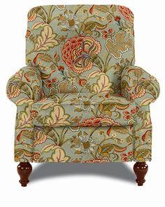 Spindale High Leg Recliner by La-Z-Boy Fabric Pattern: Meadowlark