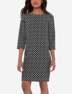 The figure flattering shift works for any body type! Add a blazer for a little extra professionalism. Sheath Dress, Dress Skirt, Work Fashion, Stylish Outfits, Casual Dresses, Cold Shoulder Dress, Clothes For Women, My Style, Winter