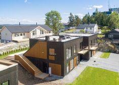 Bilderesultat for flatt tak takterrasse Flat Roof, Deck, Mansions, House Styles, Outdoor Decor, Home Decor, Decoration Home, Manor Houses, Room Decor