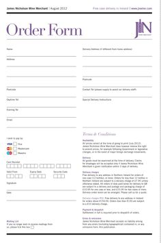 Custom Purchase Order Form  Purchase Order Forms