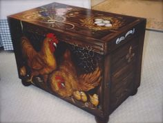 Trompe l'oeil Chicken chest © Pamela Silin-Palmer 2000