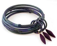 Purple Bangles with Dangles by Sharon MacLeod
