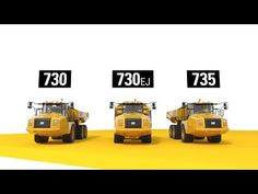 (48) 730, 730 EJ & 735 Cat® Articulated Trucks - YouTube Video Production, Monster Trucks, Cats, Vehicles, Youtube, Gatos, Kitty Cats, Cars, Cat