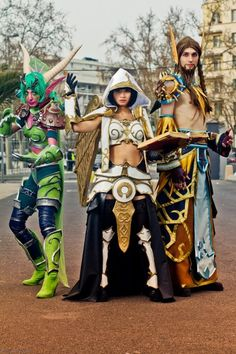 World of Warcraft. I don't know anything about this other than the fact that it is a video game but it would be pretty awesome to go shopping in a costume like that!!! haha