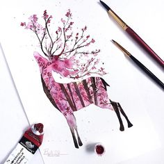 I'm in love with cherry blossoms so I just had to make this.  . . . . .