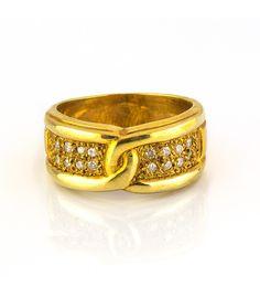 Sortija de Oro Amarillo 18kt con Dieciséis Diamantes 0,50ct - Subastas Regent's | Joyas y Antigüedades