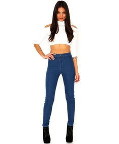 What To Wear With High Waisted Skinny Jeans - http://www.ideasyou.com/hairstyle-ideas/what-to-wear-with-high-waisted-skinny-jeans.html
