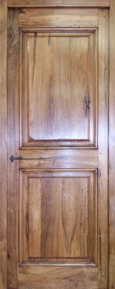 XVIIIth century 2 pannel door In wallnut, wax patina. Interior doors . Portes Antiques - french manufacturer, restoring and creation