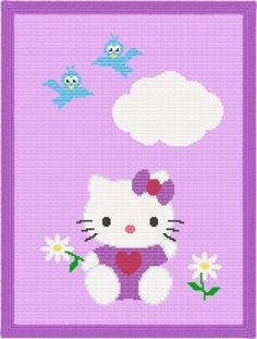 hello kitty afghan pattern crochet