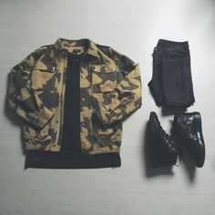 Outfit grid - Camo combo