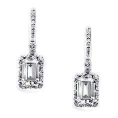 Diamond Earrings ❤ liked on Polyvore