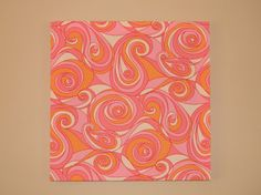 Fabric Wall Art Modern Home Decor Pink and Orange by CandBConcepts, $18.00