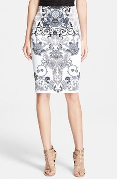 Versace+Collection+Print+Pencil+Skirt+available+at+#Nordstrom