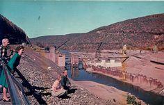 Kinzua Dam construction in the early 1960s