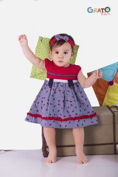 Little Girl Dresses, Girls Dresses, Dress Anak, Kids Dress Patterns, Princess Dress Kids, American Doll Clothes, Summer Baby, Baby Sewing, Kids Wear
