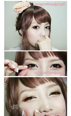 """""""Japanese Orchid"""" Makeup TUTORIAL Picture DIY HOW TO"""