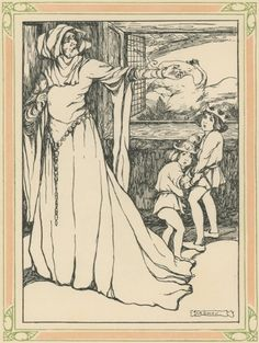The Wild Swans -- Lilian A. Covey -- Fairytale Illustration