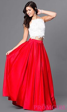 Dave and Johnny Two Piece Ball Gown  at PromGirl.com
