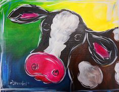 Sips n strokes ® database painting party ideas детские Cow Paintings On Canvas, Animal Paintings, Canvas Art, Cow Canvas, Canvas Ideas, Painting Canvas, Wine Painting, Painting & Drawing, Wine And Paint Night