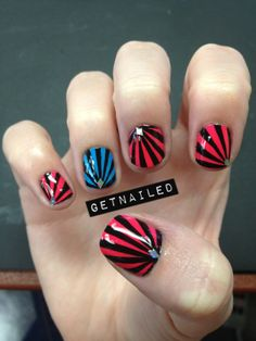 Chelsea King is not short on imagination.  Today's look: Punk rock stripes w/bling.