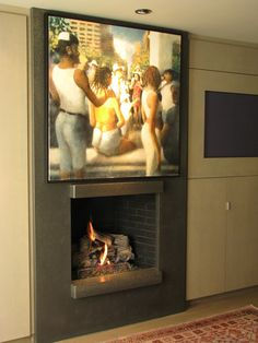 #concretefireplace  by Flying Turtle Cast Concrete