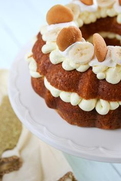 Banana Pudding Bundt Cake uses boxed yellow cake mix and instant banana pudding. Incredibly simple.