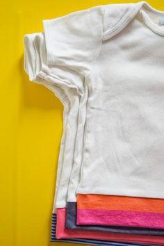 Una segunda vida para los #bodies del #bebé: convertirlos en camisetas