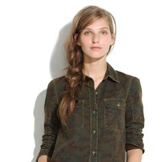 Tomboy workshirt in camo from Madewell