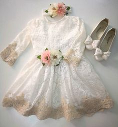 4ff96d966 Christening Gown Girl, Toddler Easter Outfit, White Lace Baby Dress, Baby  Dress Wedding, Newborn Ded