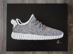 "Handmade Adidas Yeezy Boost 350 Sneaker String art Piece - 11"" x 14"" with Acrylic Barrier"