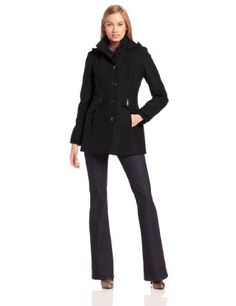 55% Off was $190.00, now is $85.50! Kensie Women's Wool Coat with High Neck and Hood