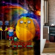 Adventure Time nebula Games BMO Shower Curtain