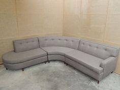 AMAZING!!! Vintage Mid-Century Modern Sectional Sofa