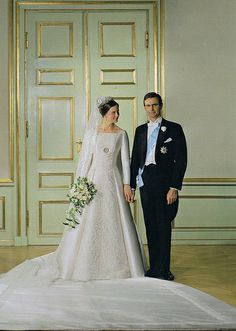 The Wedding of Queen Margrethe (at that time Princess Margrethe) and Prince Henrik, 10 June 1967.