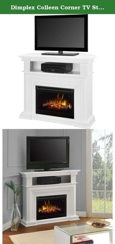 "Dimplex Colleen Corner TV Stand with Electric Fireplace in White. The simple white finish of the Colleen Media Console brings focus to the 25"" Multi-Fire XD firebox contained within. A truly versatile piece, the Colleen converts in seconds for a flat wall or corner application. Choose between a media console or mantel application upon assembly. ional panel. If you're going for a traditional mantel look, use the option panel to close off the media compartment, upon assembly. Otherwide…"