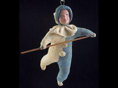 Vintage Old Cotton Pre War Christmas Decoration Ornament Сircus Tightrope Walker | eBay