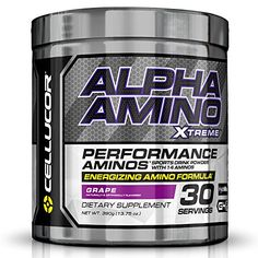Cellucor Alpha Xtreme Acids and BCAA Powder Amino and Energy Blend, Grape, 30 Count * Learn more by visiting the image link.