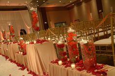 Red rose inspired wedding theme. #roses #red #wedding