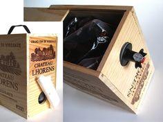 wood bag in box