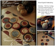 Punch Needle Embroidery ~ MY ART :)  ©Doreen Frost ~ Vermont Harvest Folk Art