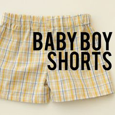 Zuzzy: Shorts for Baby Boy: free pattern :: TUTORIAL pantalón corto para niños Baby Boy Outfits, Kids Outfits, Boys Sewing Patterns, Pattern Sewing, Clothes Patterns, Sewing Ideas, Tutorial Sewing, Fabric Patterns, Baby Suspenders