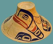 Haida spruce root Hat woven by Isabel Rorick