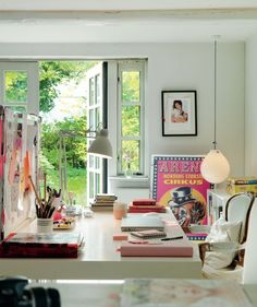 roomy and bright workspace