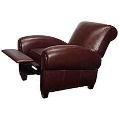 Marbella Leather Recliner in Coffee