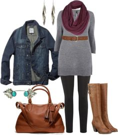 """""""Fall Tunic - Plus Size"""" by alexawebb on Polyvore"""