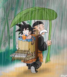 Under Paozu rain by *OmaruIndustries on deviantART
