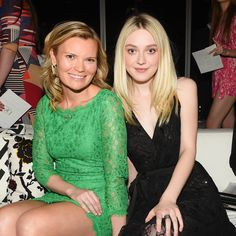 Becky Straw of the Adventure Project, awarded the People's Voice Award, with Dakota Fanning at the 2015 #DVFAwards http://on.dvf.com/1JpbDZW